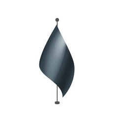 Waving the black flag on a white background vector
