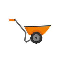 Wheelbarrow icon flat style vector