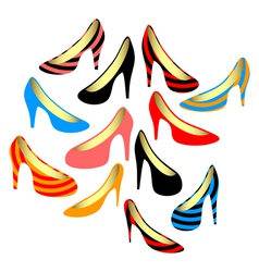 Womens shoes on a white background vector image