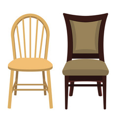 wood chair design vector image