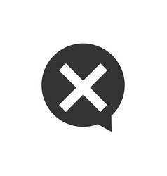 x mark cross in circle icon isolated check cross vector image