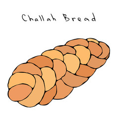 zopf or challah bread jewish or swiss austrian vector image