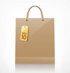 bag brown shopping vector image vector image