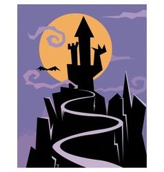 castle of nightmares vector image vector image