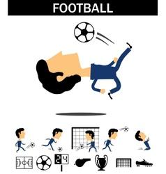 Football man vector image vector image