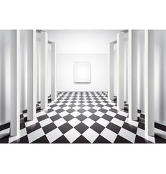 hall with columns vector image