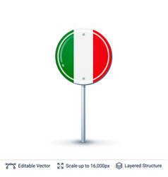 italy flag isolated on white vector image vector image