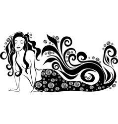a mermaid vector image