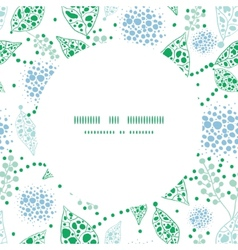 abstract blue and green leaves circle frame vector image vector image