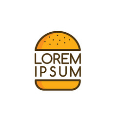 Big burger logo logotype food theme art vector