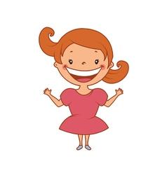 Funny smiling little girl vector