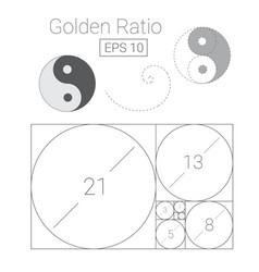 golden ratio template logo fibonacci vector image