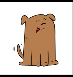 happy dog cartoon vector image