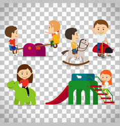 kids playing at playground vector image