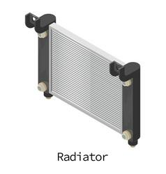Radiator car icon isometric 3d style vector