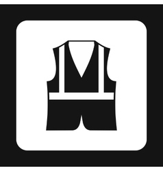 Reflective vest icon simple style vector image vector image