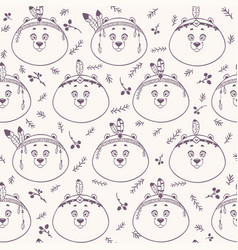 bear background seamless vector image vector image