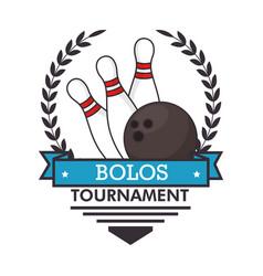 bowling logo sport vector image