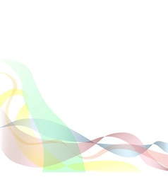 Colored ribbons background or CD cover vector image