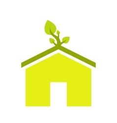 Eco house flat icon vector image