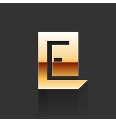 Gold Letter E Shape Logo Element vector image vector image