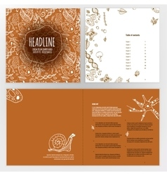 Biology Brochure Design vector image