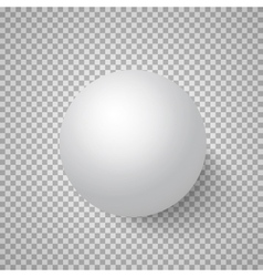 Photorealistic 3D Ball Template Bright vector image