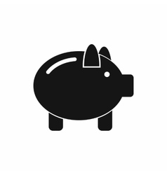 Piggy bank icon simple style vector image