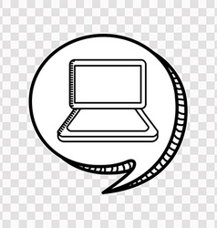 technology icon vector image vector image