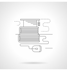University library detailed line icon vector image