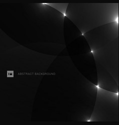 Abstract background black and gray circle vector