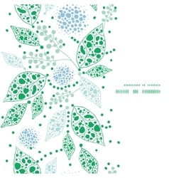 abstract blue and green leaves vertical frame vector image