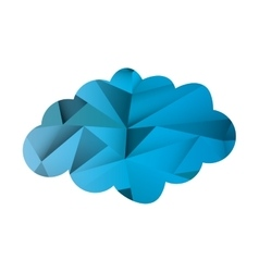 abstract single cloud shape icon vector image