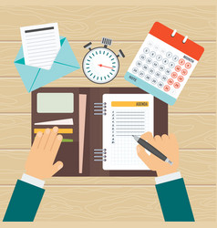 Agenda on workplace vector
