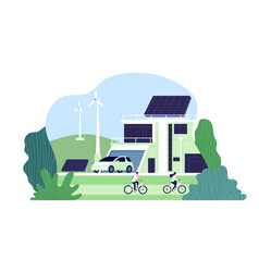 alternative energy environmental city solar vector image
