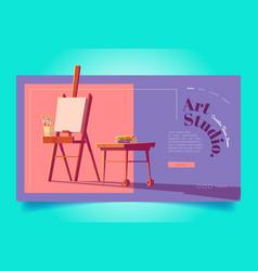 art studio website workshop for painters vector image