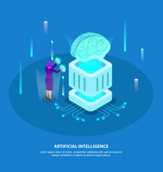 artificial intelligence design concept vector image