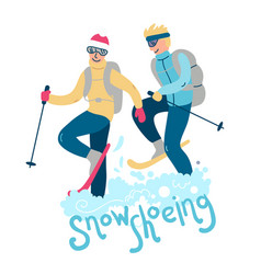 Beautiful flat winter sport vector