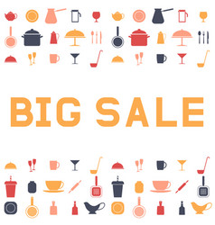 Big sale ware design an advertising flyer or vector