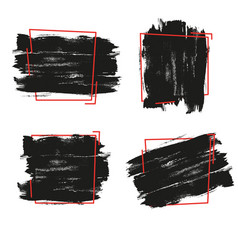 Black paint ink brush stroke vector