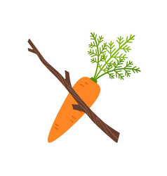 Carrot and stick motivation concept vector