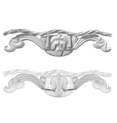 Carved decor 9 vector