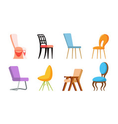chairs design soft place for sitting seat vector image
