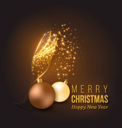christmas golden decoration vector image