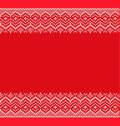 Christmas knitted geometric seamless pattern xmas vector