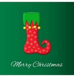 Christmas or New Year s greeting card on vector