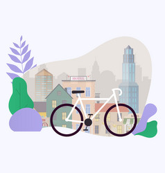city bike hire rental tours for tourists and city vector image