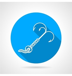 Contour icon for fishing hook vector image