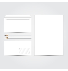 Corporate identity template set blank Business vector image