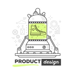 Creative professional mechanism for produ vector